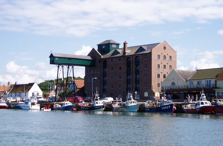 The harbour at Wells-next-the-Sea.