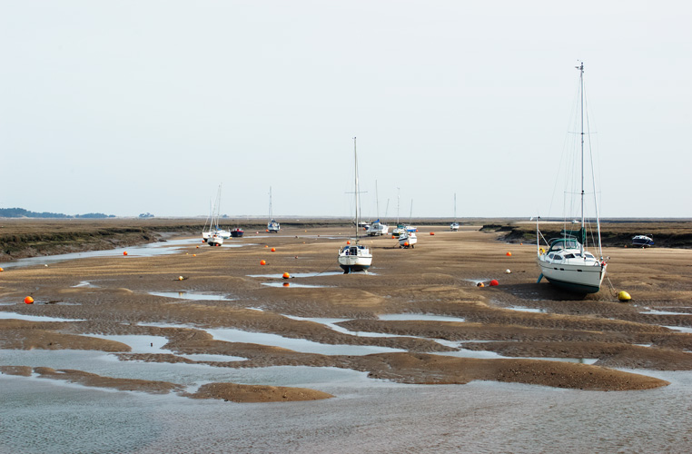 Boats at low tide