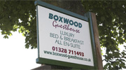 Boxwood Guesthouse sign